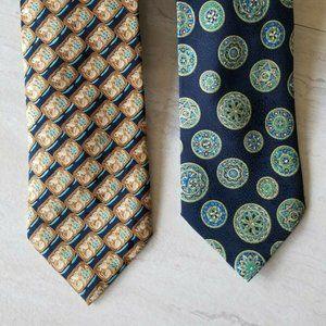 BRIONI silk ties ( 2 ) Mens neckties - Geometric